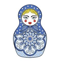 Zentangle stylized elegant russian doll vector