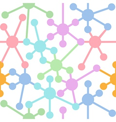 Network connection nodes seamless pattern vector