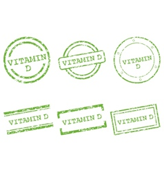 Vitamin D stamps vector image