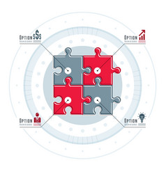 Creative business infographics concept puzzle vector