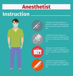 Medical equipment instruction for anesthetist vector