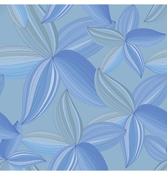 Abstract flowers petals on a blue background vector