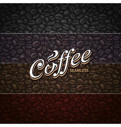 Coffee seamless texture vector