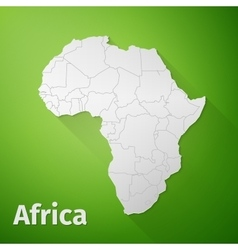 Africa map on green background vector