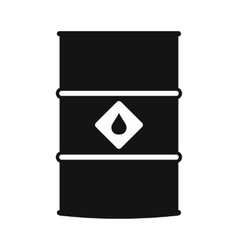 Oil barrel black simple icon vector