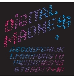 digital madness font vector image