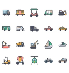 Transport Icons 3 vector image