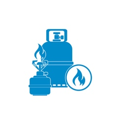 Burner gas bottle icon vector