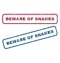 Beware of snakes rubber stamps vector