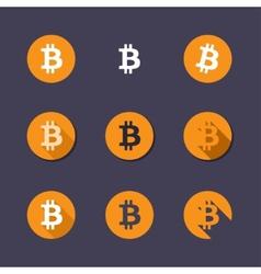 Bitcoin icons vector