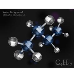 Butane molecule image vector