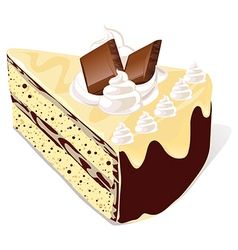Cafe cake vector