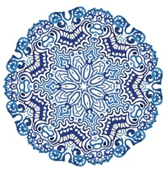 Circle snowflake pattern vector image