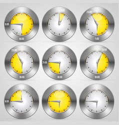 clock with time stamp set vector image