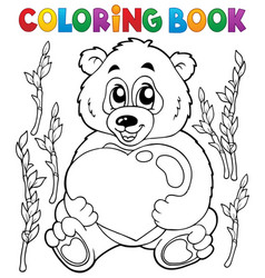 Coloring book valentine topic 4 vector
