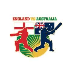 cricket batsman england australia vector image