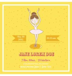 Cute balerina card - for baby shower vector