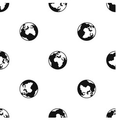earth globe pattern seamless black vector image vector image