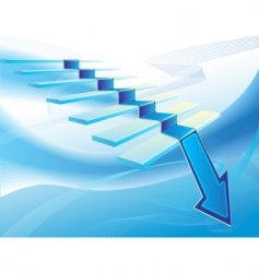 economic downturn concept vector image vector image