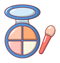 Face powder multicolor icon cartoon style vector