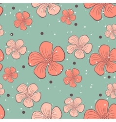Floral Seamless Pattern 2 vector image