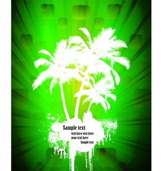 grunge island vector image vector image
