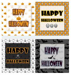 halloween greetings set vector image vector image