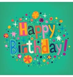 Happy Birthday 6 vector image