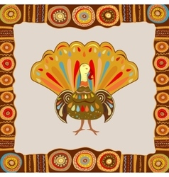 Happy thanksgiving painting vector