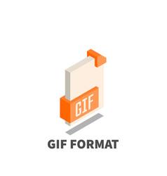 image file format gif icon symbol vector image vector image