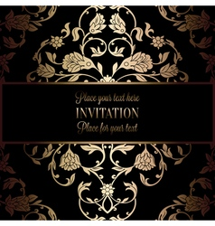 Invitation decorative golds 50 vector