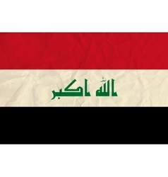 Iraq paper flag vector image
