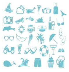 letnje ikone2 vector image vector image