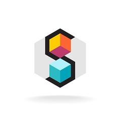Letter s 3d logo vector