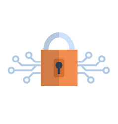 lock icon media network data protection concept vector image vector image