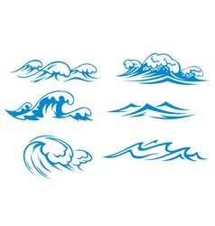 Ocean and sea waves vector image vector image