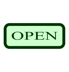 Open sign 604 vector image