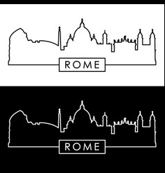 rome skyline linear style editable file vector image vector image