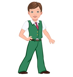 school boy green vector image
