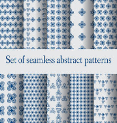 Set of seamless abstract patterns- vector image vector image