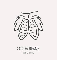 Simple logo template cocoa beans vector