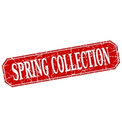 spring collection red square vintage grunge vector image vector image
