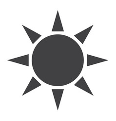 sun solid icon weather and sunshine vector image