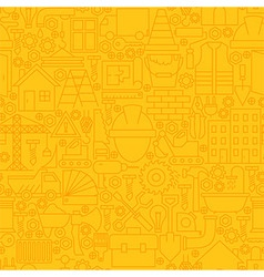 Thin yellow construction line seamless pattern vector