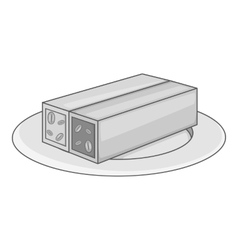 Turkish sweets icon gray monochrome style vector image vector image