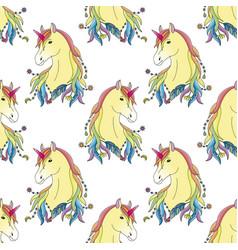 Unicorn seamless pattern vector
