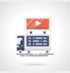 Video announcement flat color icon vector