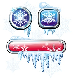 Winter buttons vector