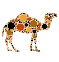 Dotted camel vector