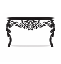 Rich baroque commode table vector